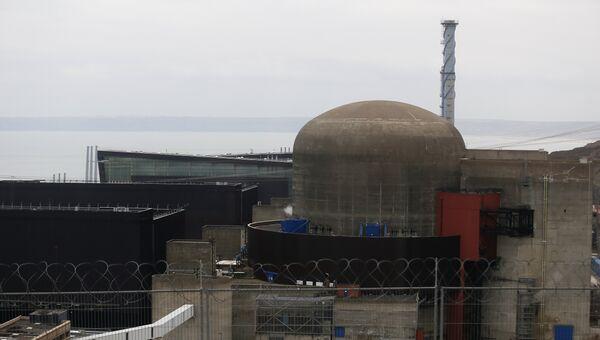 АЭС Фламанвиль в регионе Нижняя Нормандия, Франция. 9 февраля 2017