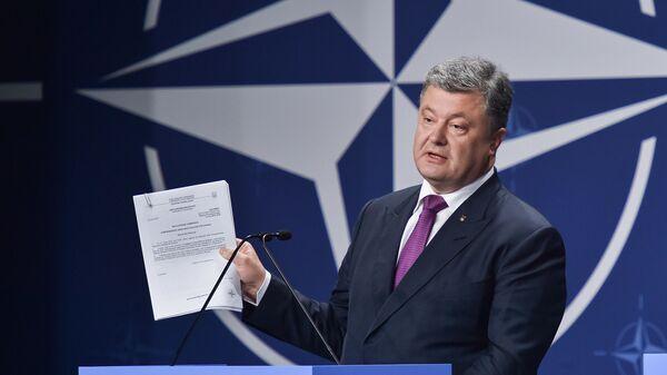 Президент Украины Петр Порошенко на саммите НАТО
