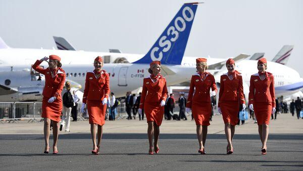 Стюардессы авиакомпании Аэрофлот. Архивное фото