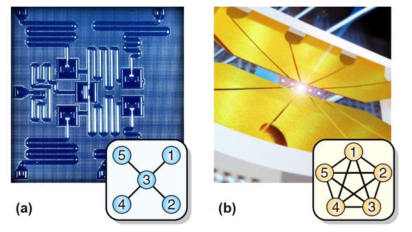 Квантовый компьютер IBM (слева) и квантовый компьютер Монро (справа)
