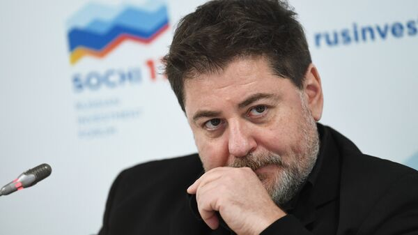 Генеральный продюсер продюсерской компании Среда Александр Цекало на Российском инвестиционном форуме в Сочи