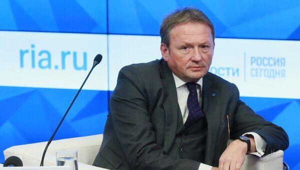 Уполномоченный по защите прав предпринимателей Борис Титов во время пресс-конференции
