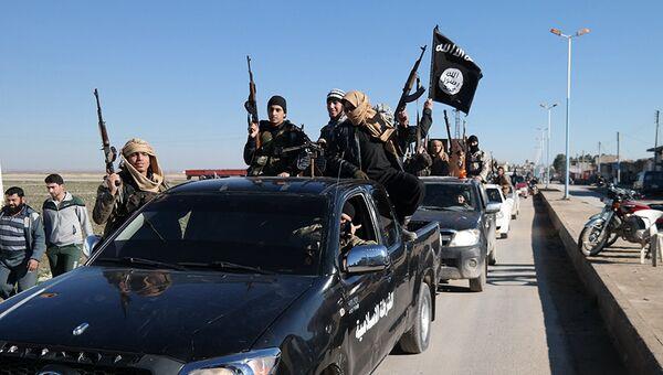 Боевики ИГ (запрещена в РФ) на северо-востоке Сирии. Архивное фото