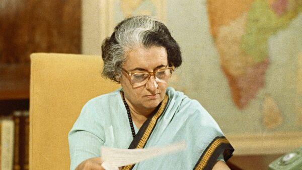 Премьер-министр Республики Индии Индира Ганди
