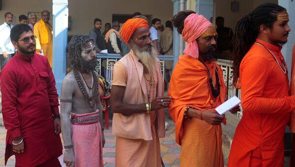 Голосование на региональных выборах в штате Уттар-Прадеш. Индия