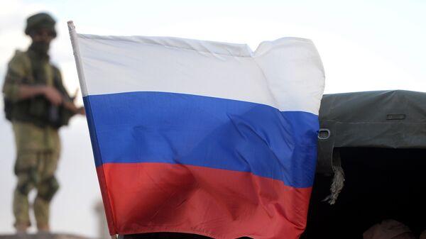 Флаг РФ в Сирии. Архивное фото