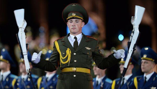 Сводный военный оркестр войск национальной гвардии на фестивале Спасская башня - 2016