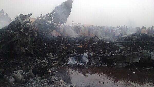 На месте крушения самолета в Южном Судане