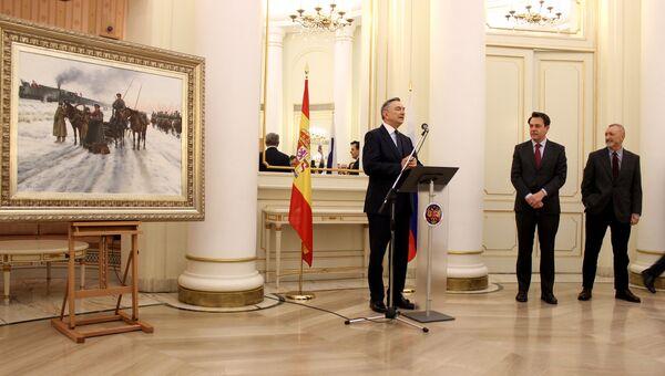 Испанский художник Аугусто Феррер-Далмау представил в посольстве России в Мадриде свою работу Прощание