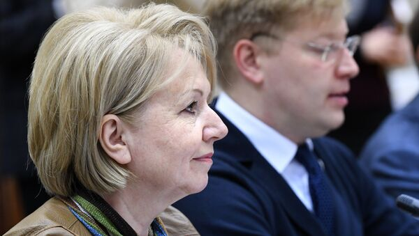 Председатель партии Яблоко Эмилия Слабунова. Архивное фото