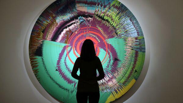 Совместная работа Дэмиена Херста и Дэвида Боуи Beautiful, halo, space-boy painting