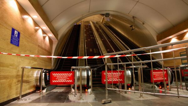 Вестибюль станции метро Сенная площадь в Санкт-Петербурге, где произошел взрыв