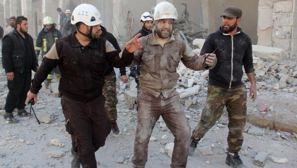 Активисты из организации Белые каски в Сирии