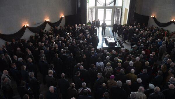 На церемонии прощания с летчиком-космонавтом Георгием Гречко. 11 апреля 2017
