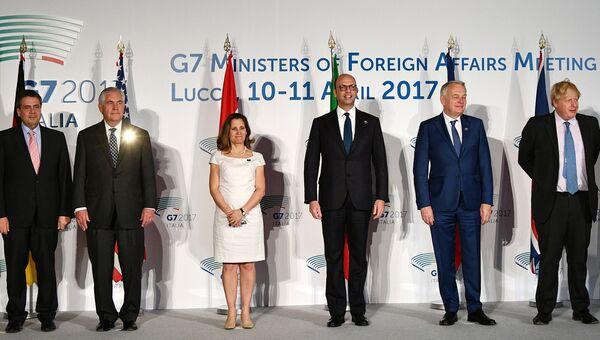 Совместное фото глав МИД стран Большой семерки. 11 апреля 2017
