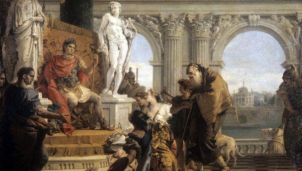 Меценат представляет Августину свободные искусства