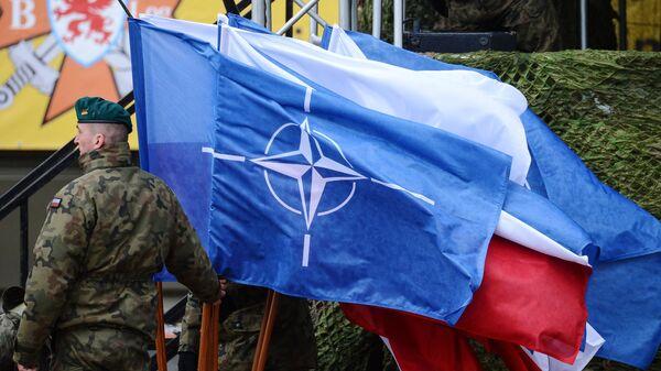 Церемония приветствия многонационального батальона НАТО под руководством США в Польше. Архивное фото