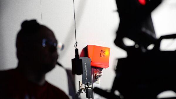 Оператор во время записи прямого эфира