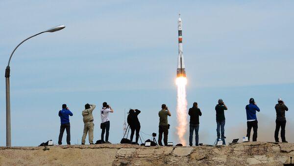 Пуск ракеты-носителя Союз-ФГ с ТПК Союз- МС-04 с космодрома Байконур. Архивное фото