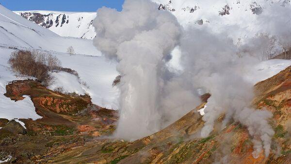 Кроноцкий заповедник. Извержение гейзера Великан