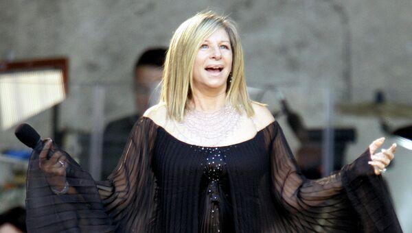 Певица и актриса Барбра Стрейзанд. Архив
