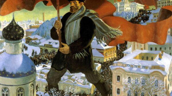 Картина Б.Кустодиева Большевик