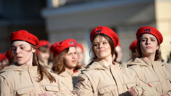 Участники военно-патриотического общественного движения Юнармия
