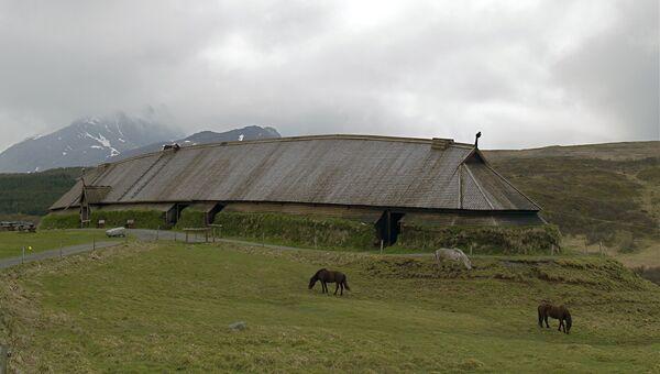 Реконструкция бражной залы в музее Лофотр