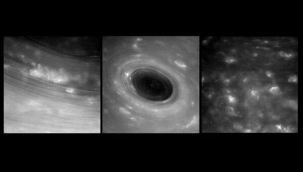 Ураганы Сатурна, снятые Кассини с рекордно близкого расстояния