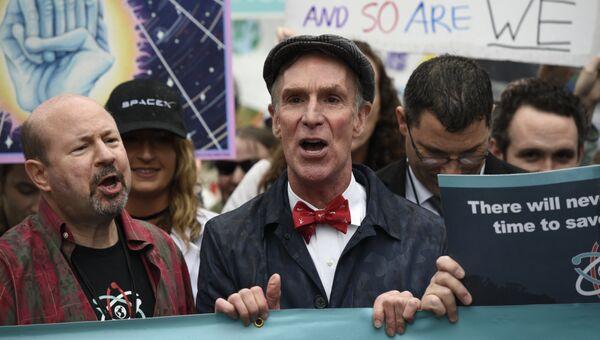 Марш ученых в День земли 22 апреля в Вашингтоне