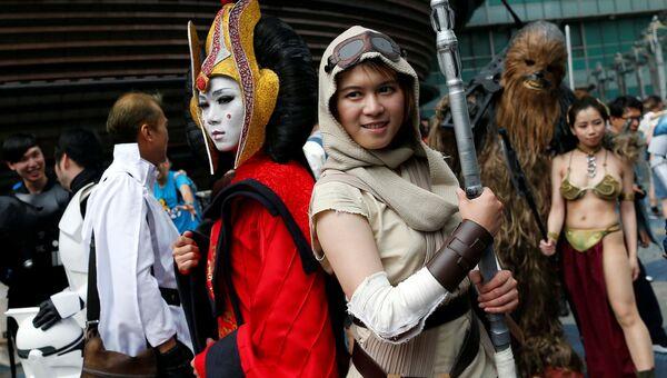 Поклонники фильма отмечают день Звездных войн в Тайбэе, Тайвань