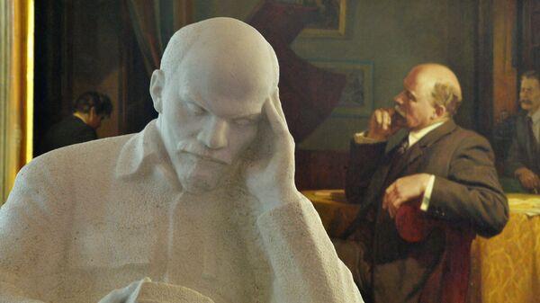 Скульптура Ленина с книгой в Ульяновском музее-мемориале В.И. Ленина в Ульяновске