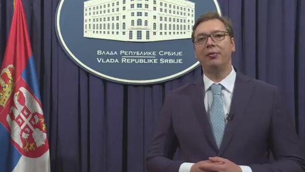 Избранный Президент Сербии Александр Вучич поздравил россиян с Днем Победы