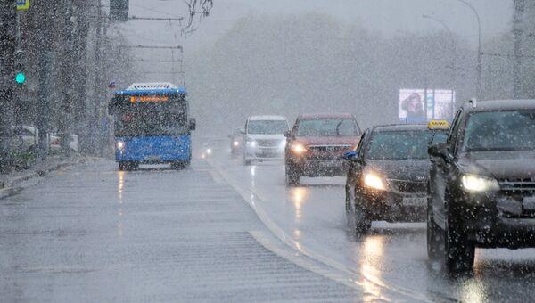 Непогода в Москве. Архивное фото