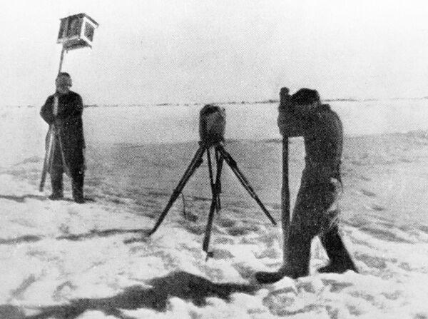 Метеорологические наблюдения на дрейфующей станции Северный полюс - 1