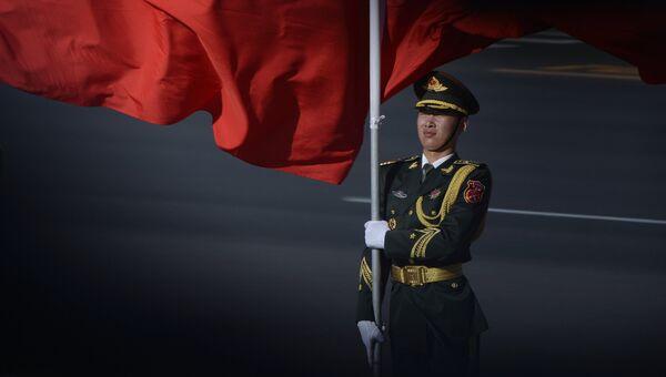Почетный караул во время встречи лидеров стран-участниц форума Один пояс и один путь в Пекине. Архивное фото