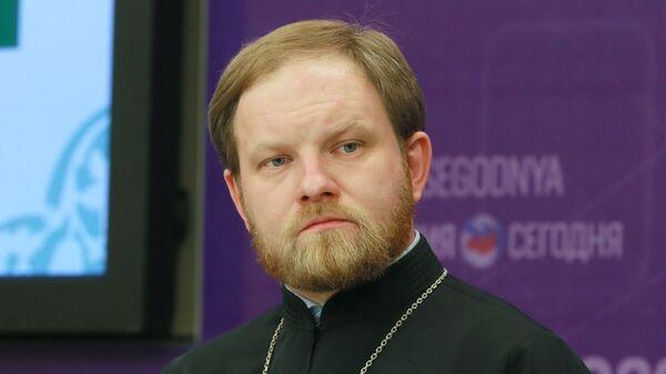 Пресс-секретарь патриарха Кирилла священник Александр Волков. Архивное фото