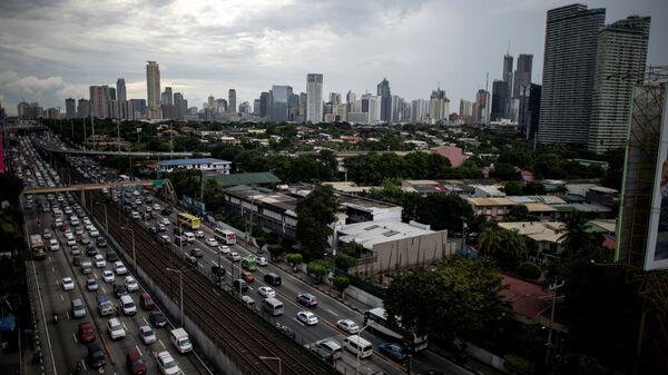 Вид на столицу Филиппин Манилу