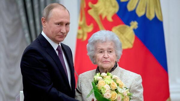 Церемония вручения государственных наград президентом РФ В. Путиным в Кремле
