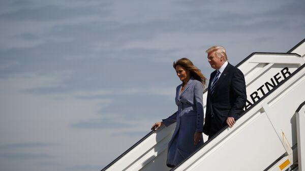 Дональд Трамп и первая леди Мелания Трамп