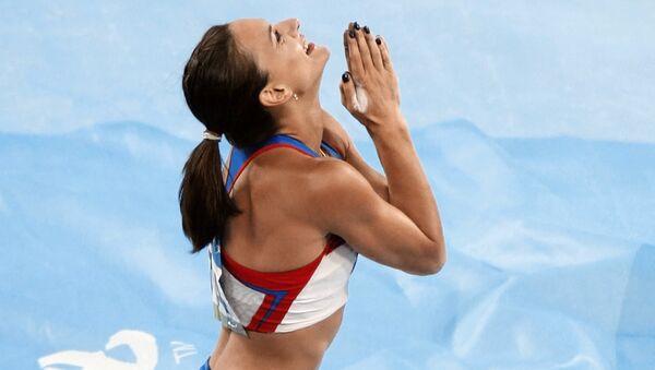 Российская прыгунья с шестом Елена Исинбаева. Архивное фото