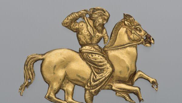 Экспонат выставки Скифы: воины древней Сибири в Британском музее