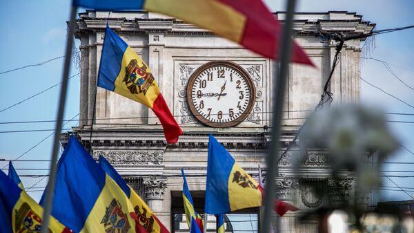 Флаги Молдавии в Кишиневе