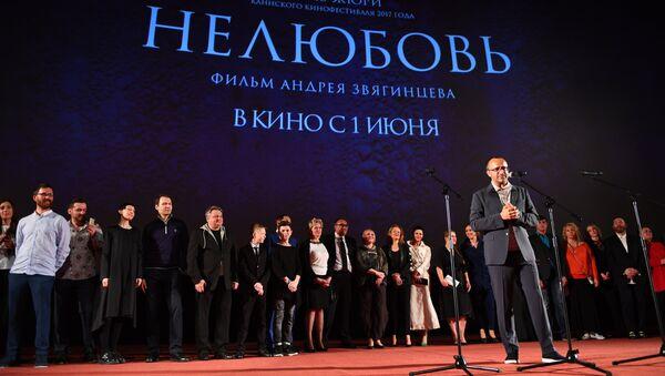 Режиссер Андрей Звягинцев на премьере фильма Нелюбовь. Архив