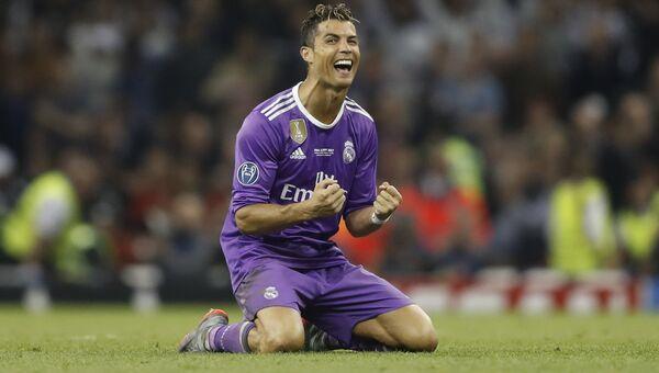 Криштиану Роналду во время матча Реала с Ювентусом в финале Лиги чемпионов