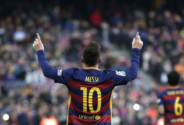 Нападающий футбольного клуба Барселона Лионель Месси