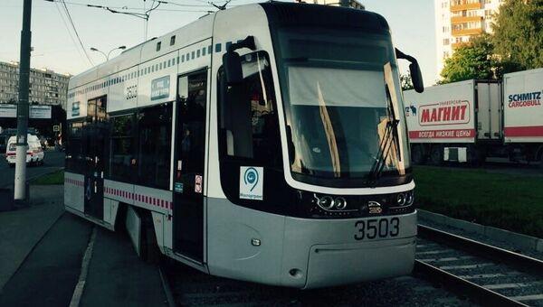 ДТП с трамваем в Тушино, Москва