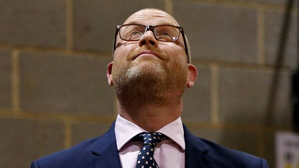 Пол Наттолл,  лидер Партии независимости Соединённого королевства, после поражения на выборах. 9 июня 2017