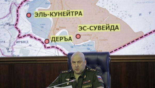 Командующий российской группировкой войск на территории Сирийской Арабской Республики генерал-полковник Сергей Суровикин. Архивное фото