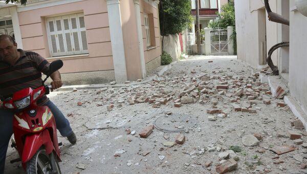 Последствия землетрясения на острове Лесбос, Греция. 12 июня 2017